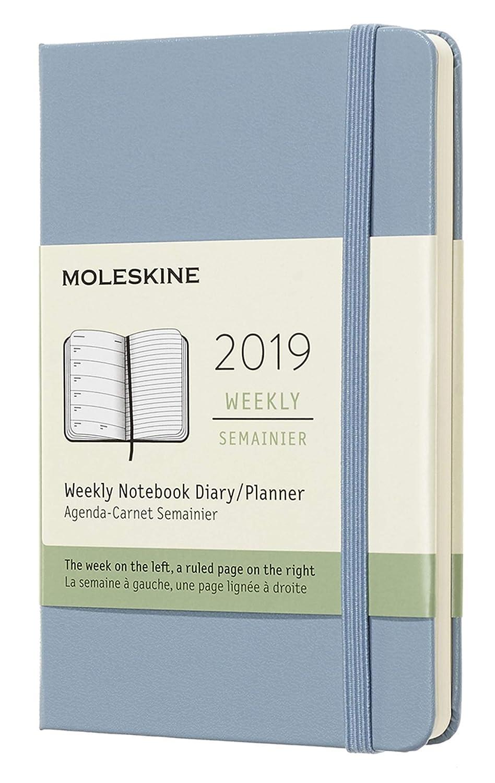 Moleskine DHB3612WN2Y19 - Libreta semanal grande, tapa dura, color azul