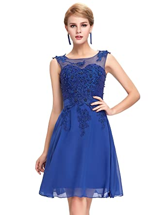 Yafex Women Prom Chiffon Knee Long Evening Dress Size 4 GK063-4
