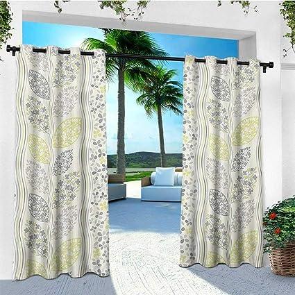 Amazon.com: leinuoyi gris, ojal para cortina de exterior ...