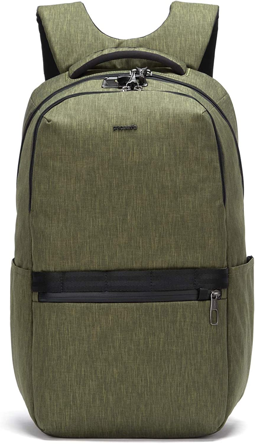 """Pacsafe Men's Metrosafe X Anti Theft 25L Backpack-With Padded 15"""" Laptop Sleeve"""