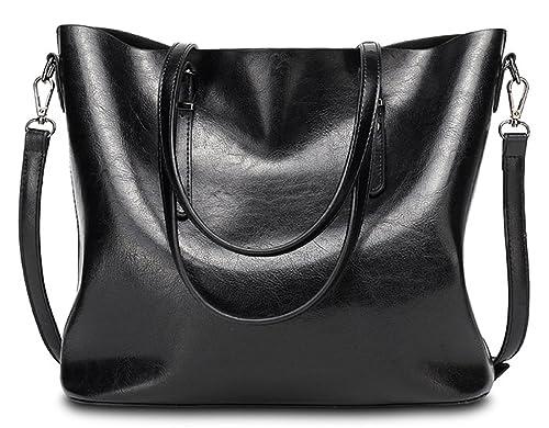 2017 Womens Designer Large Handbags Shoulder Bags Tote Purse Leather Messenger  Hobo (Black) f51ae64bca5a7