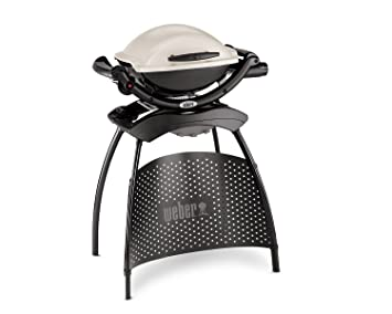 Weber Q 1000 Titan Barbecue Gas - Barbacoa (Kettle, Negro, Color blanco,