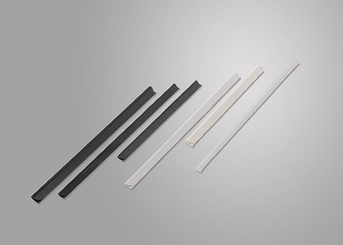 schwarz DIN A4 1-PACK Klemmschienen f/ür 20-40 Blatt 6 mm 100 St/ück