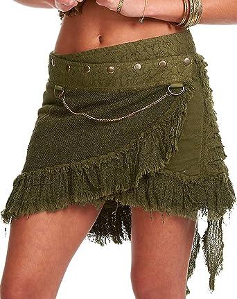 elf skirt steampunk clothing GEKKO wrap skirt pixie skirt STEAMPUNK SKIRT