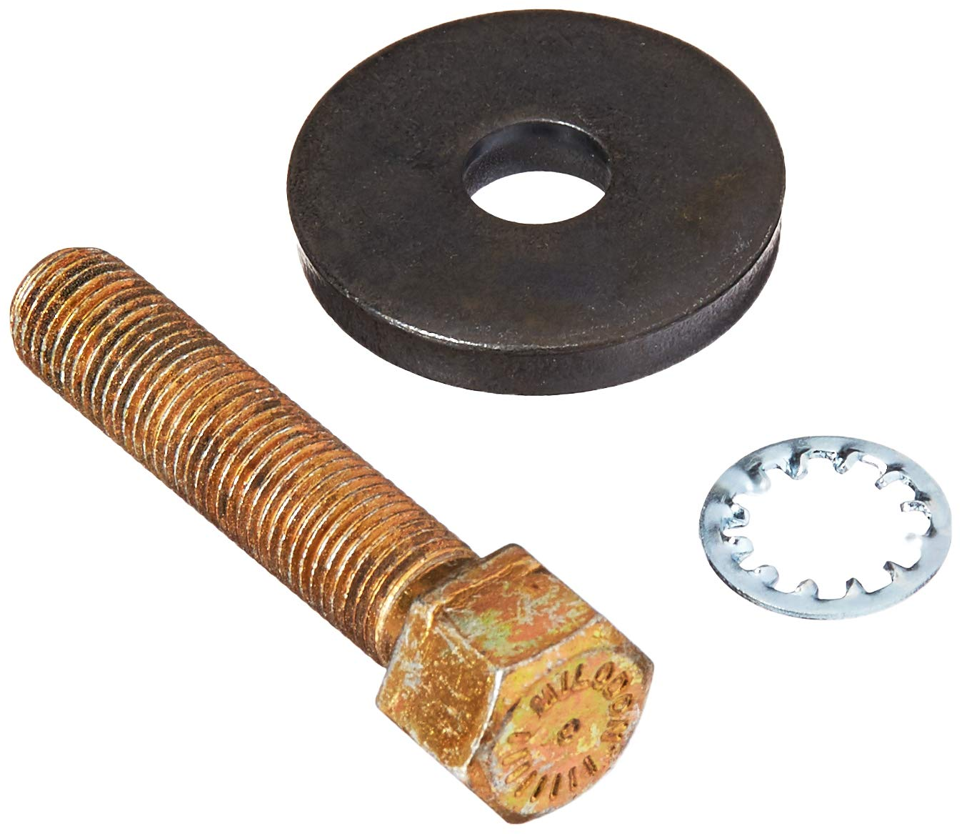 Milodon 84530 7//16-20 x 2 Grade 8 Balancer Bolt with 1//4 Washer for Small Block Chevy