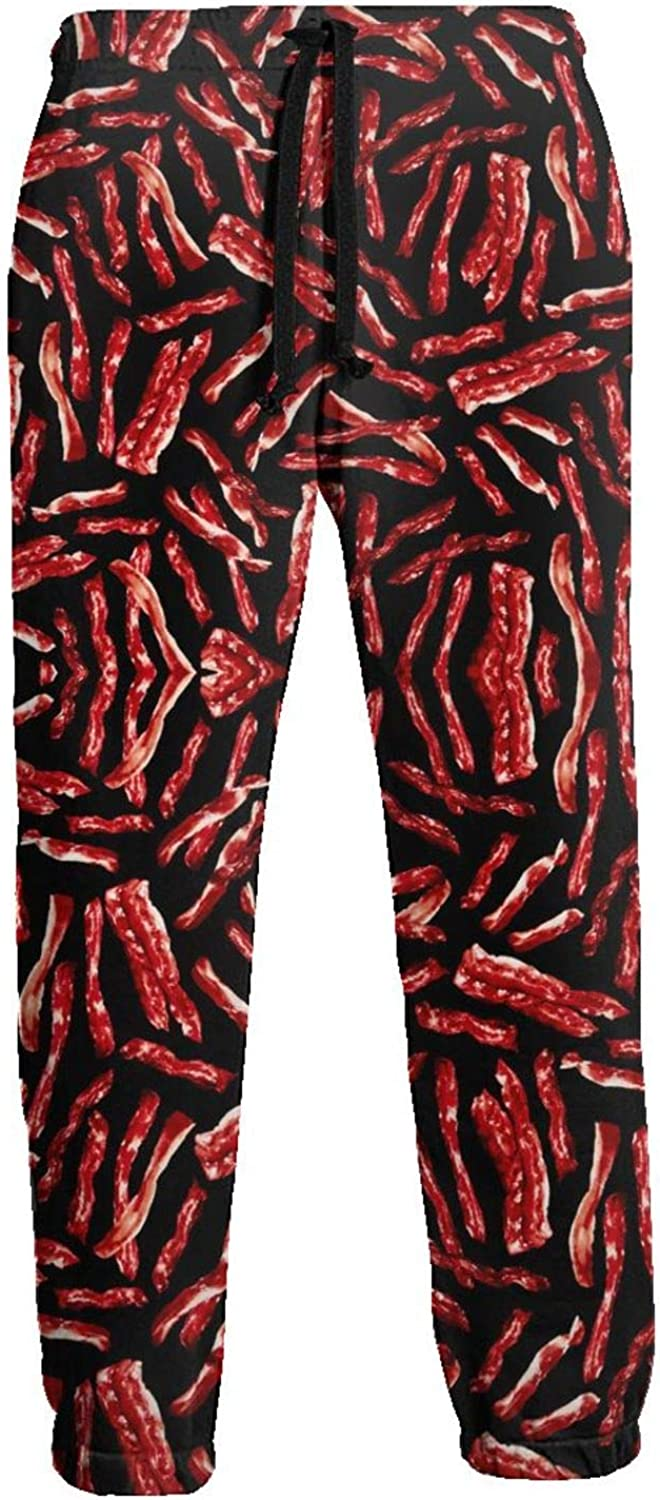 Junk Food Bacon Mens Sweatpants with Pockets Joggers Athletic Pants Loose Fit