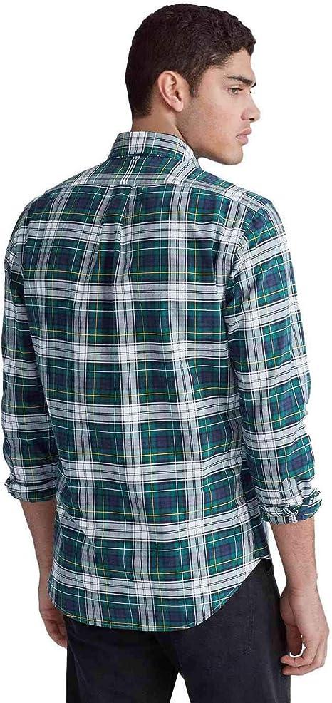 Ralph Lauren Camisa Cuadros Verde para Hombre XXL: Amazon.es: Ropa y accesorios