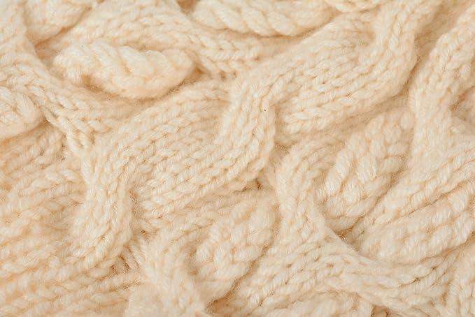Gorro de abrigo para mujer tejido a dos agujas de lana artesanal original: Amazon.es: Hogar