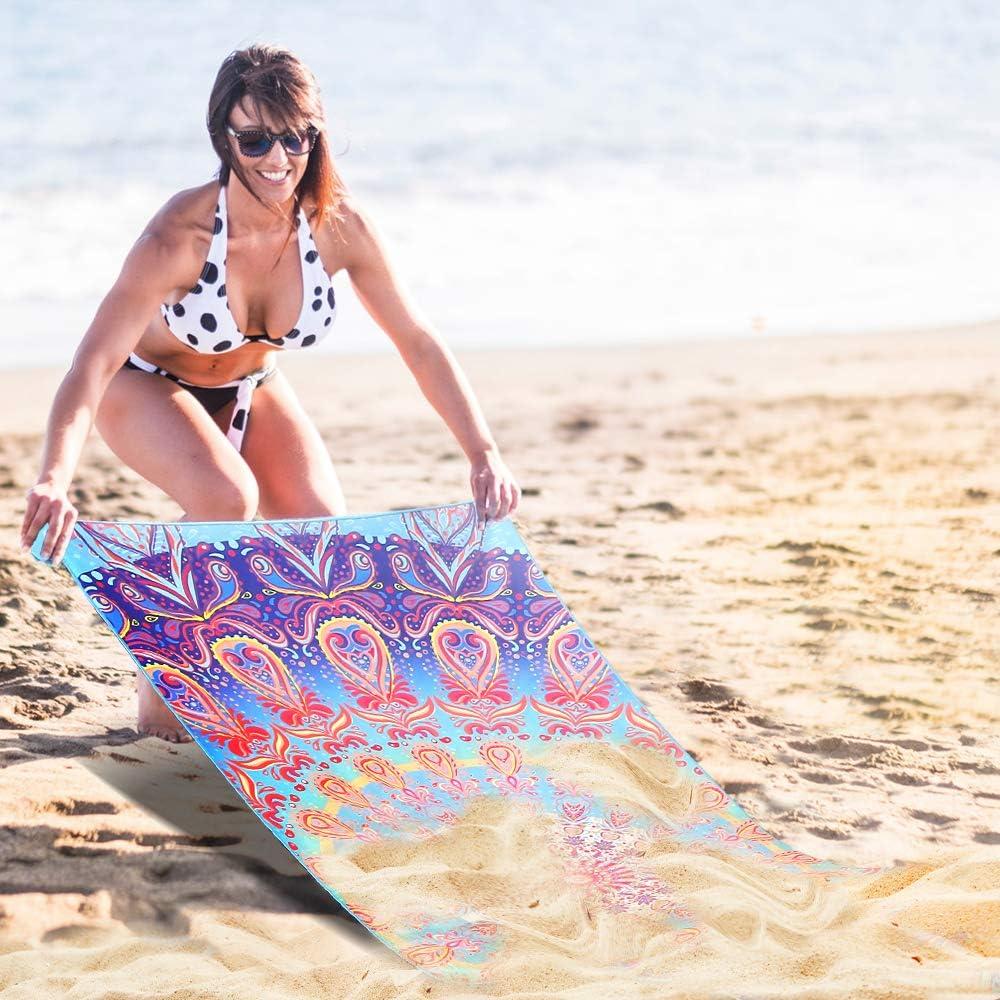 AtailorBird Strandtücher Tragbar Sand Proof 150x75cm