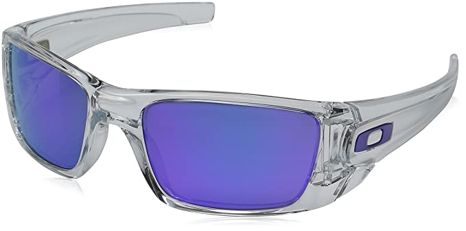 d30caf3ba3e Image Unavailable. Image not available for. Colour  Oakley Men s Gradient Fuel  Cell OO9096-04 Clear Rectangle Sunglasses