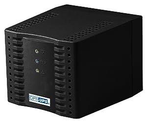 OPTI-UPS AVR SS2000 Home AVR Series 6-Outlet Automatic Voltage Regulator – Black (2000 VA / 1000 W)
