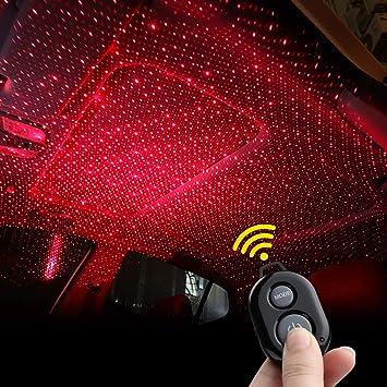 Car LED Strip Light,4pcs Interior Under Dash Lighting Kit LED Multicolor Auto Interior LED Atmosphere Lights Red1