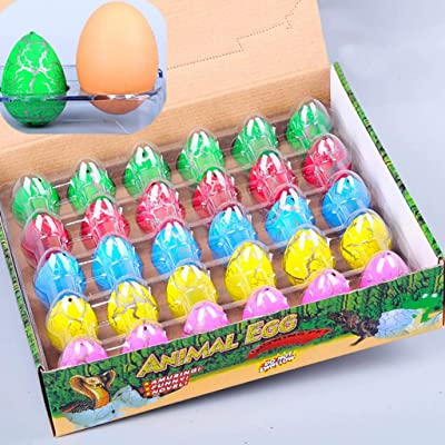 Kekailu Dinosaur Egg,Colorful Crack Water Growing Magic Hatching Dinosaur Egg Inflatable Kids Toy,Random Color: Home & Kitchen