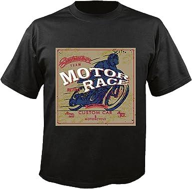 T-Shirt Camiseta Remera Velocidad del Motor Car Masters Custom Race y Moto Motorista de la Motocicleta Camisa Motocicleta del Interruptor del Cráneo Gótico Club de la Motocicleta Bicicleta Ruta 66
