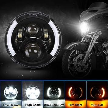 "Headlamp Amber LED Turn Signal Light Far Light Part For Cafe Racer 8/""Motorcycle"