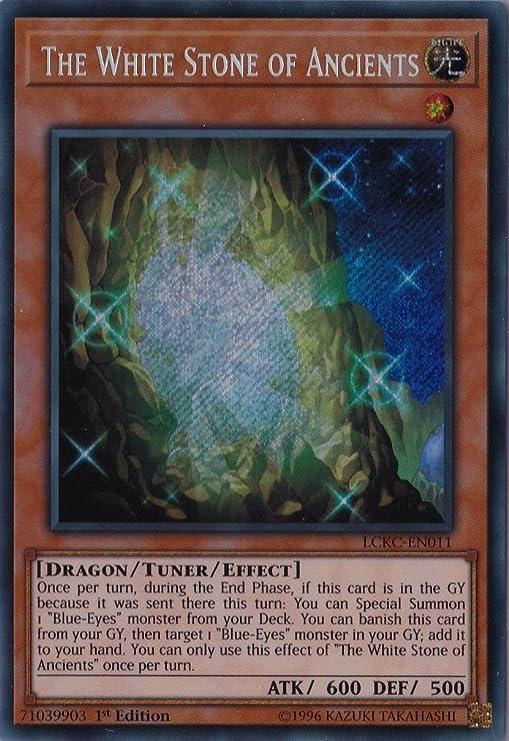 Secret Rare Unlimited New LCKC-EN011 The White Stone of Ancients