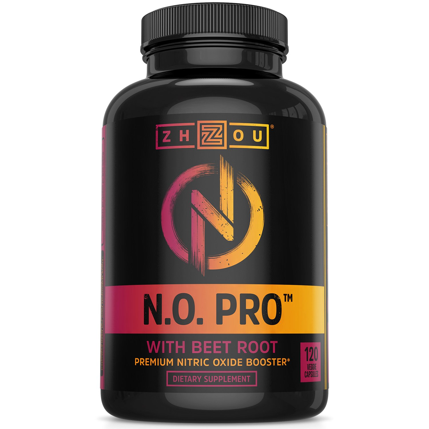 Nitric Oxide Supplement with L Arginine, Citrulline Malate, AAKG and Beet Root - Powerful N.O. Booster and Muscle Builder for Strength, Blood Flow and Endurance - 120 Veggie Capsules. by Zhou Nutrition