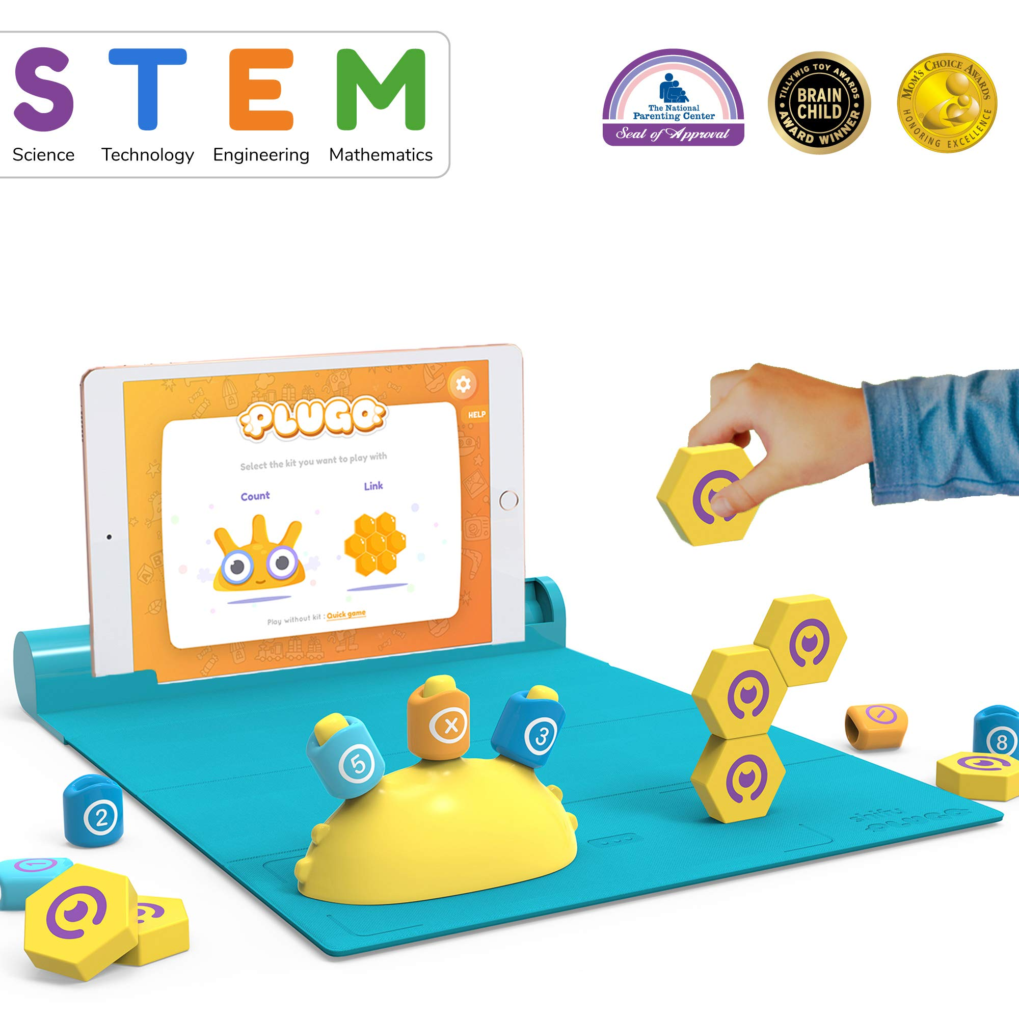 Shifu Plugo STEM Pack - Math & Construction (Link & Count), Augmented Reality Games with Fun Building Blocks | Cool Math Game for Ages 5 - 10 Years Boys & Girls Pre-K to Grade 5 (iOS/Samsung Devices) by Shifu