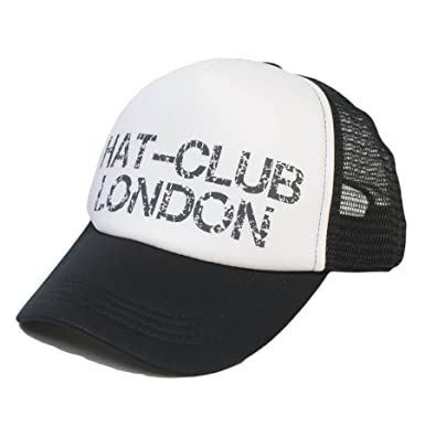 Unisex Mens Ladies Adjustable Baseball Cap Plain With  quot HAT-CLUB  LONDON quot  Text 50114a96af5
