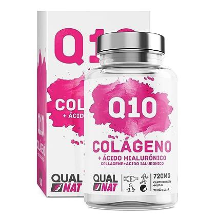 Colageno Ácido Hialurónico + Coencima Q10 | Vitamina C | Colágeno Marino | Perfecto para Mejorar Piel, Cabello y Articulaciones | 90 Cápsulas | ...