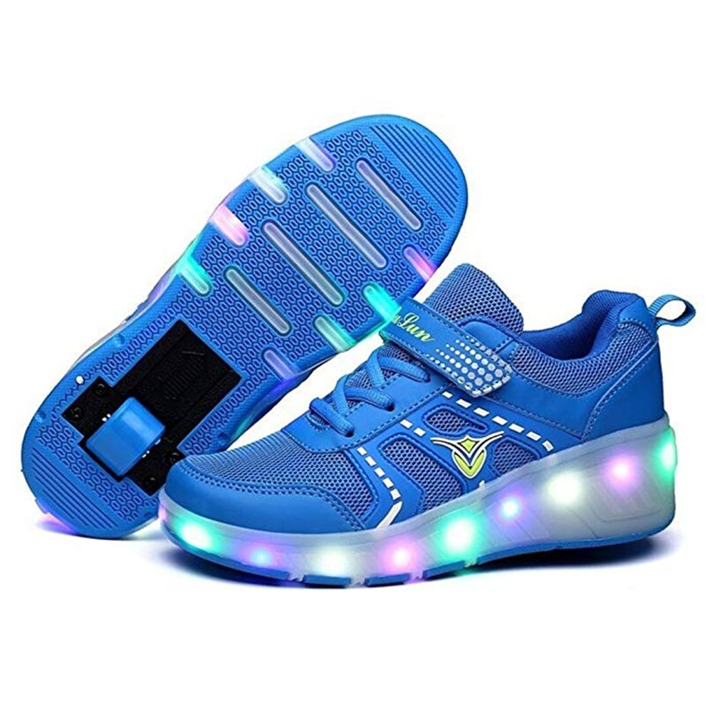 Gentlemen/Ladies Gentlemen/Ladies Gentlemen/Ladies EVLYN Kids LED Light Up Roller Shoes Wheels Skate Flashing Sneakers Durable service special function Characteristics RH15075 e1a837