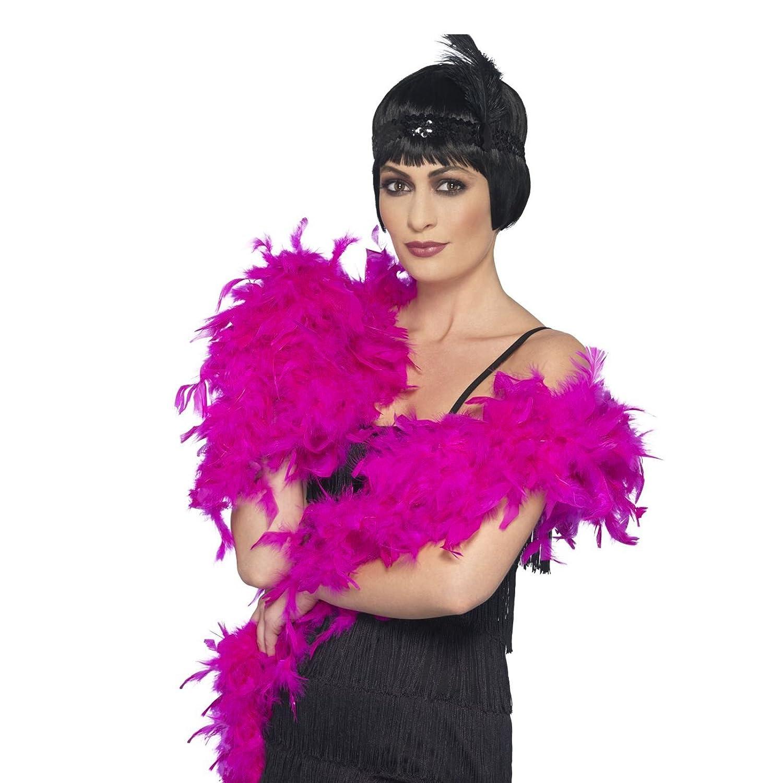 Ladies Deluxe Black Classic Feather Boa 180cm Long 80g Gatsby Flapper Fancy Dress Fancy Dress VIP