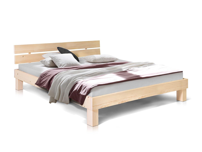 moebel-eins Pumba Doppelbett aus massiver Fichte, hochwertige ...