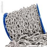 Seilwerk STANKE 8mm Rundstahlkette 10lfm kurzgliedrig Rolle Stahlkette -- DIN Eisenkette Stahl Eisen Kette abgerundet