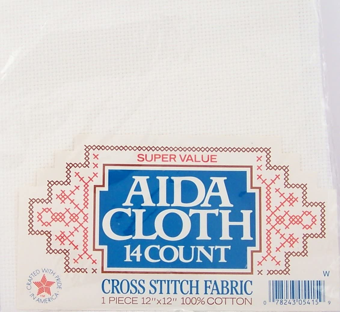 14 Count Aida  White Fabric 100/% Cotton Cross Stitch Various Sizes