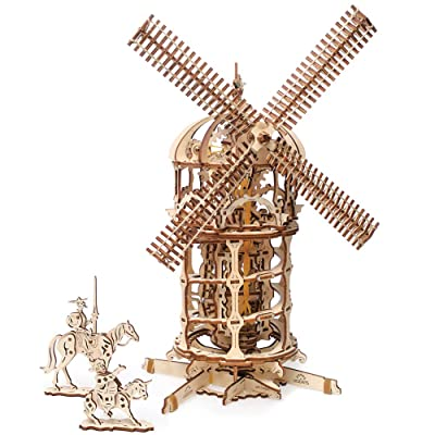 UGEARS Tower Windmill 3D Wooden Model DIY Self-Assembling Brainteaser Adult and Teens Craft Kit Gift: Toys & Games