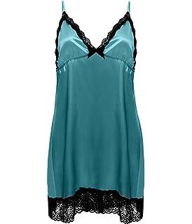 88f28b24087 Amazon.com: BellaFox Plus Size Babydoll Lace Dress Sexy Backless ...