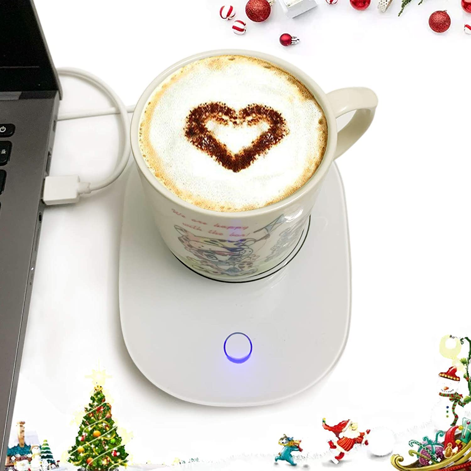 Coffee Cup Warmer USB for Desk with Auto Shut Off, USB Coffee Mug Warmer for Desk Office Home