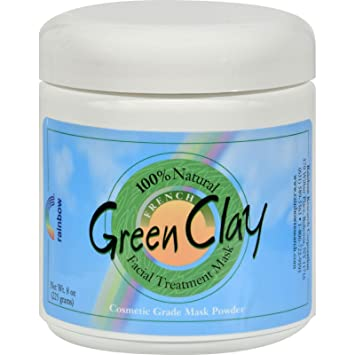 French Green Clay Facial Mask Powder - 0.75 oz. by Rainbow Research (pack of 1) Leaders, Daily Wonders, Breakup with Your Ex-Skin Cells Exfoliating Mask, 1 Mask(pack of 12)