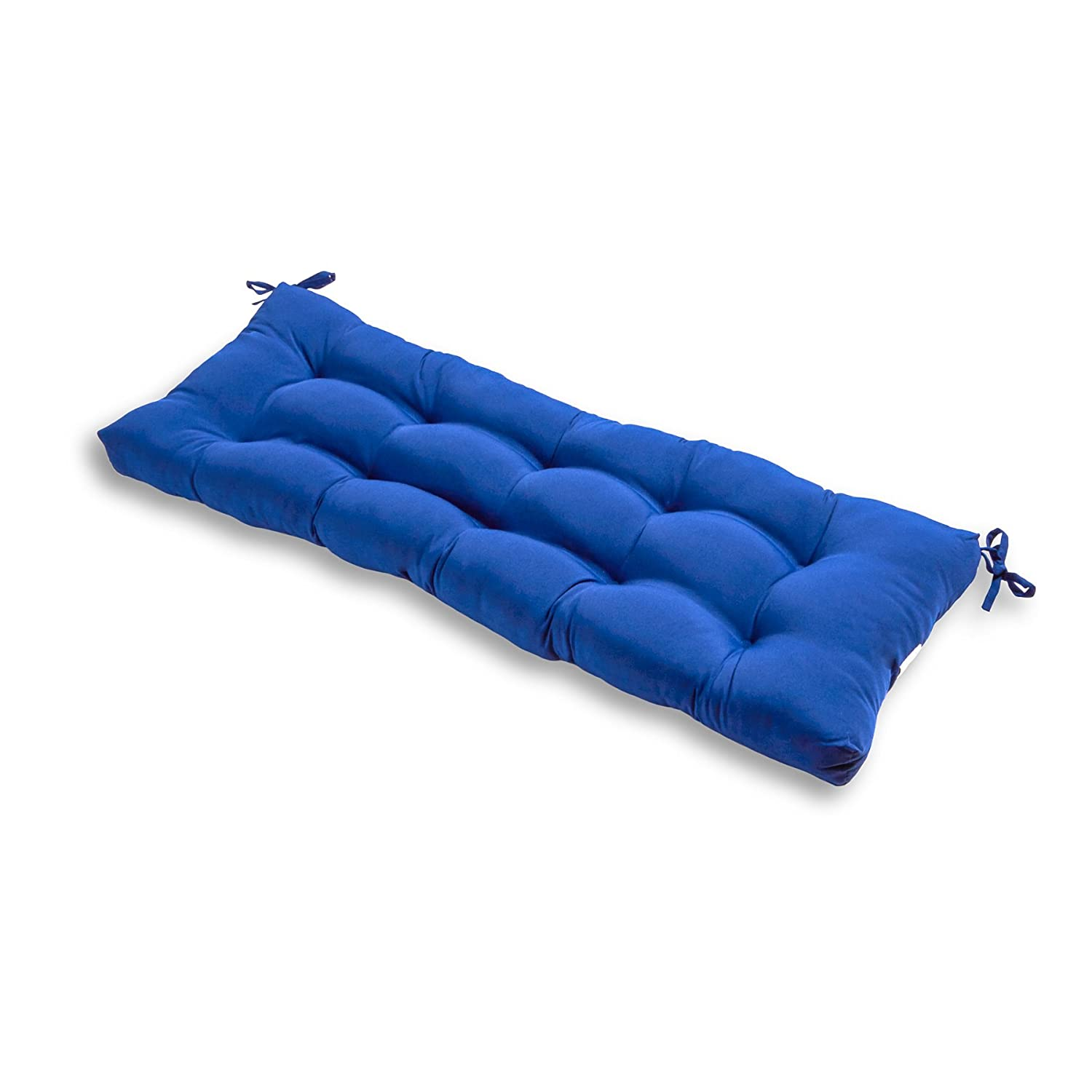 Greendale Home Fashions 51 Inch Indoor/Outdoor Bench Cushion, Marine Blue