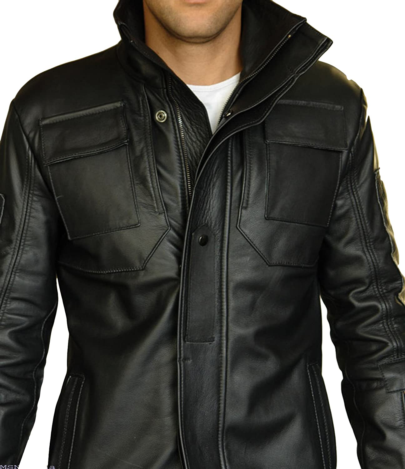 The Bombay Leather Co Men Black Genuine Lambskin Leather Jacket Size S M L XL XXL