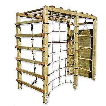 Gartenpirat Klettergerüst Premium Mit Kletterwand Spielgerüst Aus Holz Für  Den Garten Mit Reck Und Kletternetz