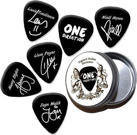 One Direction Black Púas de guitarra con estaño Tin (HB): Amazon ...