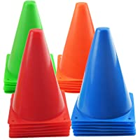 Mirepty 7 Inch Plastic Traffic Cones Sport Training Agility Marker Cone for Soccer, Skating, Football, Basketball…