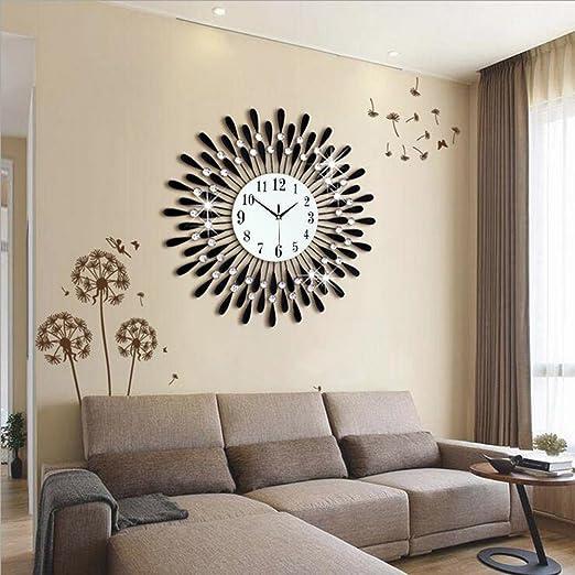 Amazon De Flashing Europaische Personlichkeit Stumm Grosse Wanduhr Moderne Wohnzimmer Kreative Mode