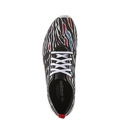 fb8e3a628b04a adidas Zebra Print ZX Flux Smooth Shoes - White - 5.5  Amazon.co.uk  Shoes    Bags