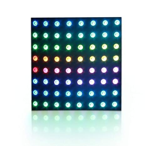 ALITOVE WS2812B Addressable RGB LED Flexible Panel Matrix 8x8 64 Pixels  Dream color LED Programmable Pixel Display Screen for Arduino