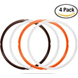 4 Pack Silicone Sealing Ring Replacement for Instant Pot 5 Qt or 6 Qt Models, Sweet and Savory Edition, Fits IP-DUO60, IP-LUX60, IP-DUO50, IP-LUX50, Smart-60, IP-CSG60 and IP-CSG50 by STYDDI