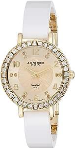 ساعة اكريبوس XXIV للنساء بمينا الساعة بلون ذهبي وبسوار خامات متعددة - AK758YGW