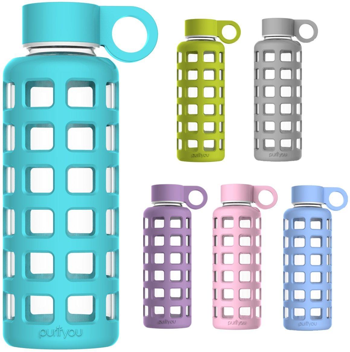 Purifyou Premium Glass Water Bottle - 32oz.