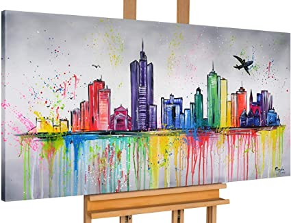 KUNSTLOFT Gemälde »The Eternal City«, handgemaltes Bild auf