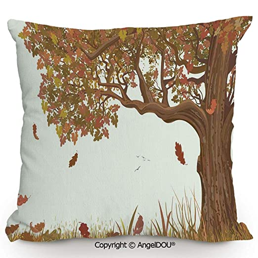 AngelDOU - Cojín de Lino y algodón, diseño de Flores ...