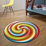 ZPL Rutschfeste runde Shaggy Bereich Teppiche und weichen Schlafzimmer-Teppich