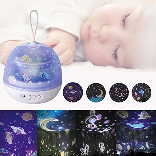 SGDD Proyector de luz Nocturna para bebé, proyector de Estrellas ...