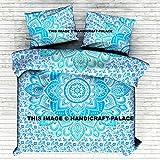 "Ombre Mandala Duvet Cover Handmade Bohemian Comforter Set Handmade Doona Cover Quilt Cover Blanket Cover With Pillow Case Ethnic Handmade By ""Handicraftspalace"""