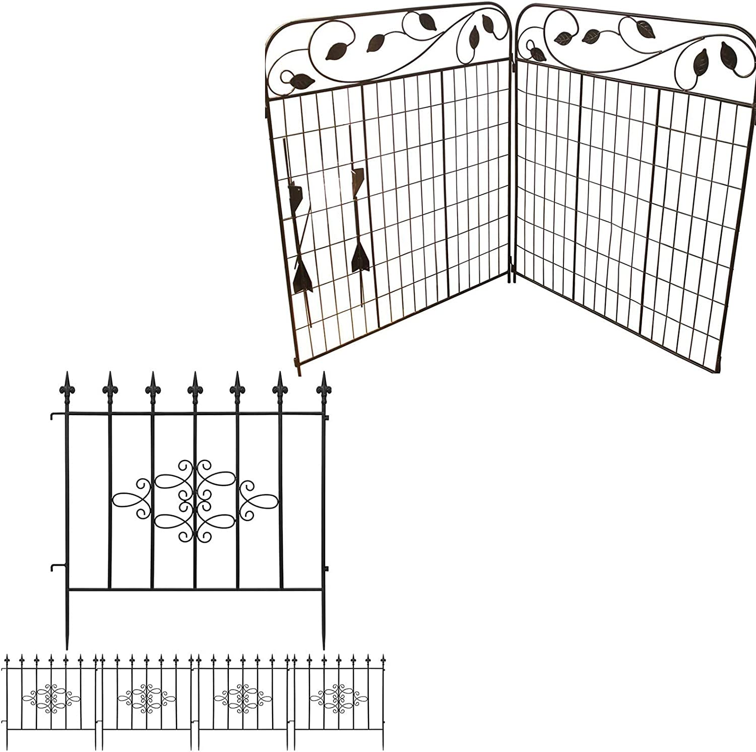 Amagabeli Decorative Garden Fence 44in x 6ft Bundle 27inx10ft
